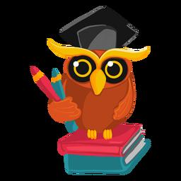 Ilustración búho graduado