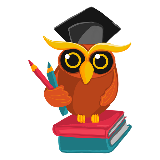 Graduate owl illustration Transparent PNG