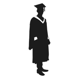 Graduate standing silhouette
