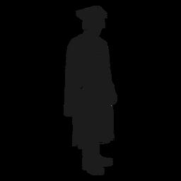 Silhueta em pé de pós-graduação