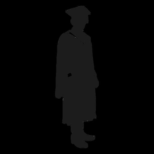 Silhueta em pé de pós-graduação Transparent PNG