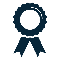 Ícone plana de fita de prêmio de formatura