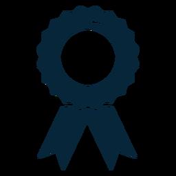 Icono plano de cinta de premio de graduación