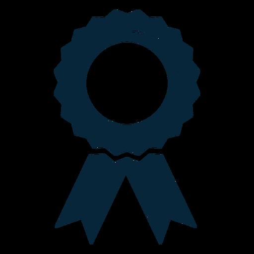Ícone plana de fita de prêmio de formatura Transparent PNG