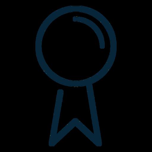 Graduation award ribbon stroke icon