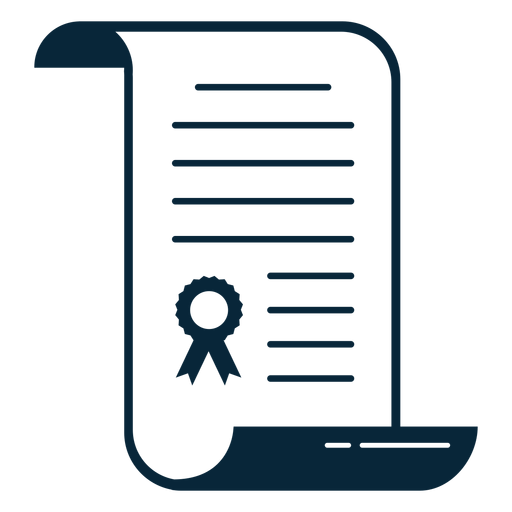 Ícone plana do diploma de graduação Transparent PNG