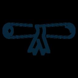 Abschluss Diplom Scroll-Symbol