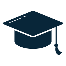 Graduation hat flat icon