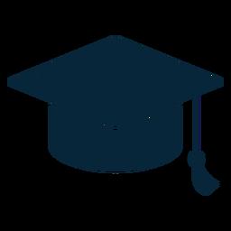 Sombrero de graduación plano icono