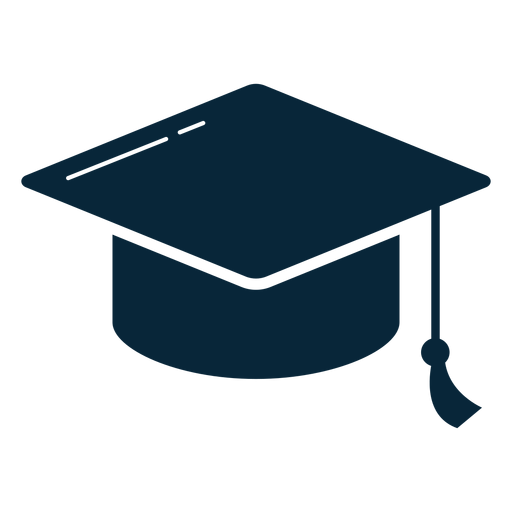 Graduation hat flat icon Transparent PNG