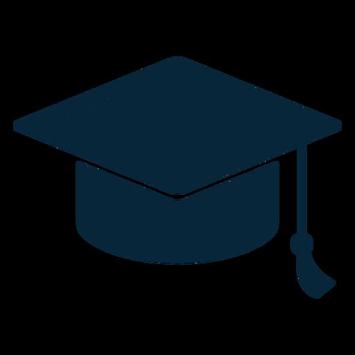 Icono plano de sombrero de graduación Transparent PNG