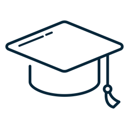 Graduation hat stroke icon