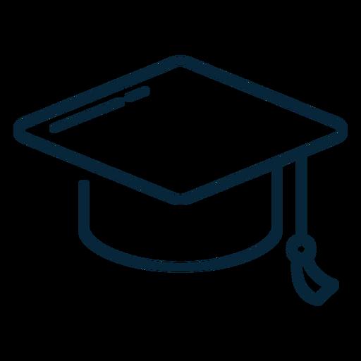 Icono de trazo de sombrero de graduación Transparent PNG
