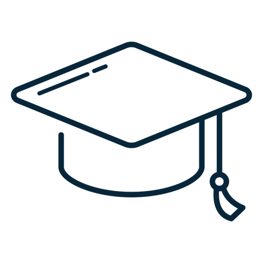 Icono de trazo de sombrero de graduaci?n