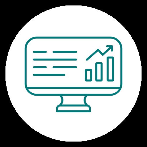 Gráfico gráfico icono de trazo de tablero Transparent PNG