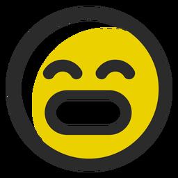 Grin colored stroke emoticon