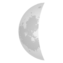 Icono realista de media luna