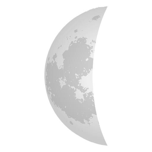Half moon realistic icon Transparent PNG