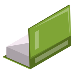 Half open book icon