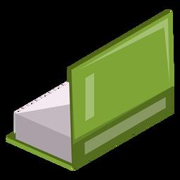 Icono de libro medio abierto