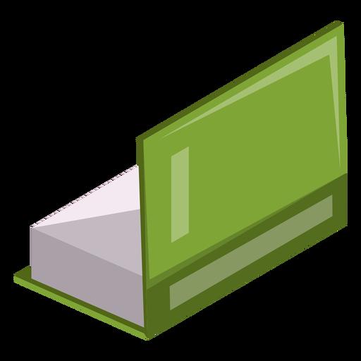 Icono de libro medio abierto Transparent PNG
