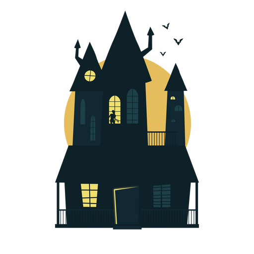 Halloween haunted house Transparent PNG