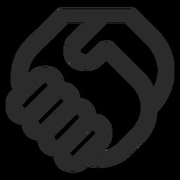 Ícone de traçado de aperto de mão