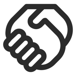 Icono de trazo de apretón de manos