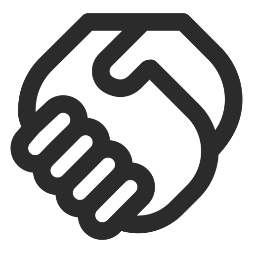 Handshaking stroke icon Transparent PNG