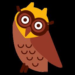 Cabeça, inclinação, coruja, ilustração