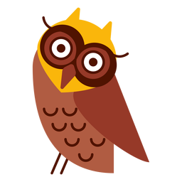 Head tilt owl illustration