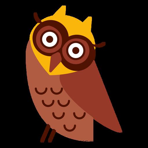 Head tilt owl illustration Transparent PNG