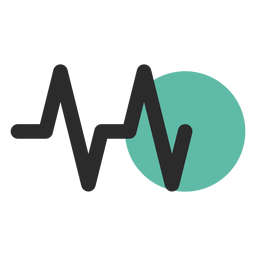 Herzfrequenz farbiges Strichsymbol