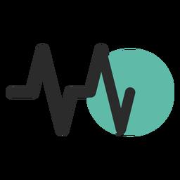 Icono de trazo de color de frecuencia cardíaca
