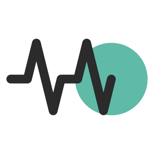 Heart rate colored stroke icon Transparent PNG