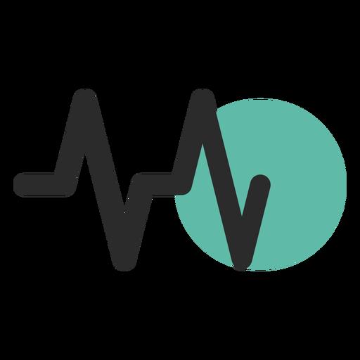 Icono de trazo coloreado de frecuencia cardíaca Transparent PNG
