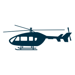 Helicopter aircraft silhouette