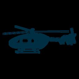 Helicóptero silueta de aviones