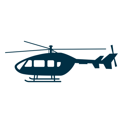 Helicopter aircraft silhouette Transparent PNG