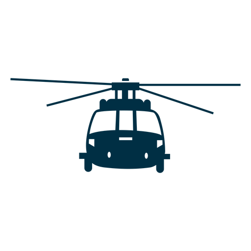 Helicopter front view silhouette Transparent PNG