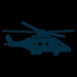 Silhueta de helicóptero