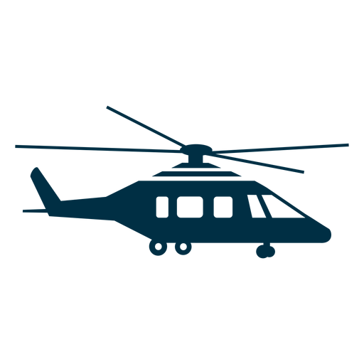 Helicopter silhouette Transparent PNG
