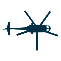 Helicopter top view silhouette