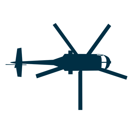 Helicopter top view silhouette Transparent PNG