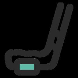 Hockeyschläger und Puck-Symbol