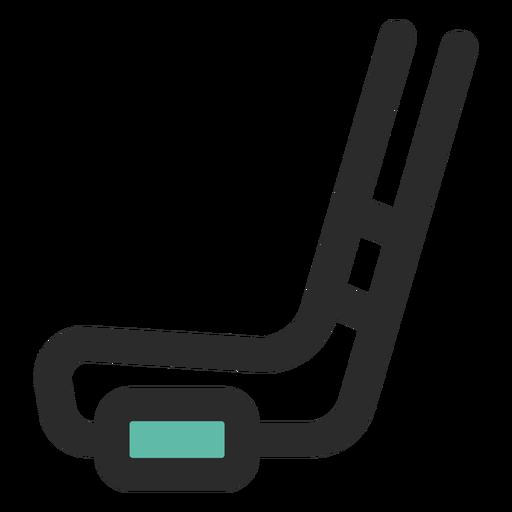 Icono de palo y puck de hockey Transparent PNG