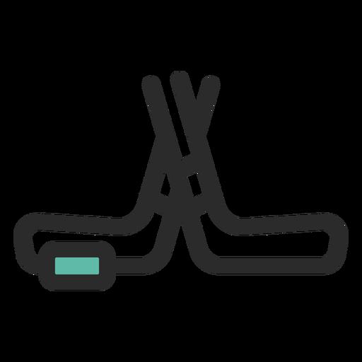 Palos de hockey y el icono de puck Transparent PNG