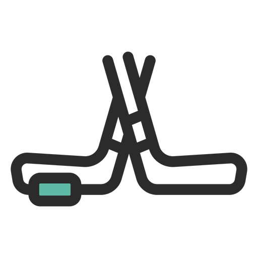 Varas de hóquei e ícone de puck Transparent PNG