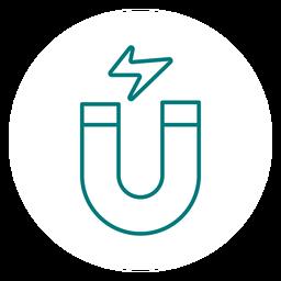 Hufeisenmagnet Strich Symbol