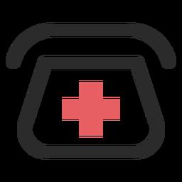 Icono de trazo de color de teléfono de hospital
